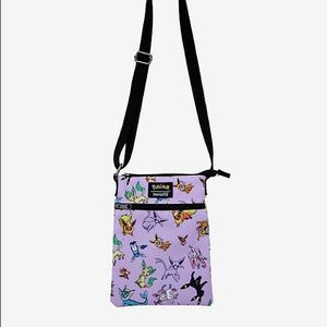 Eevee Eeveelution Crossbody Passport Holder Bag